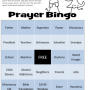 Prayer Bingo