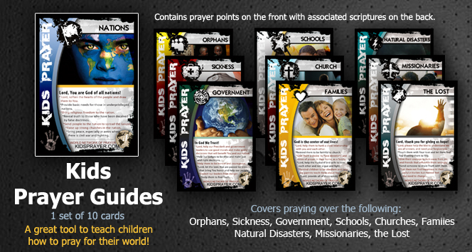 Kids Prayer Guides / Scripture Cards